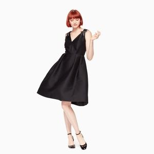 NWOT Kate Spade Black Fit And Flare Cocktail Dress